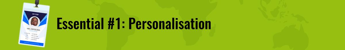 Essential-1: Personalisation