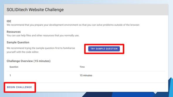 Online Challenge - begin challenge