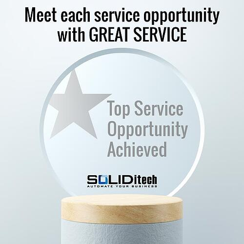 Meet each service opportunity with great service