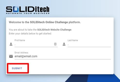 online challenge - login page